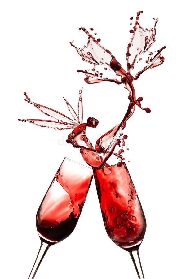 Abstrakter Rotwein. lizenzfreie stockbilder