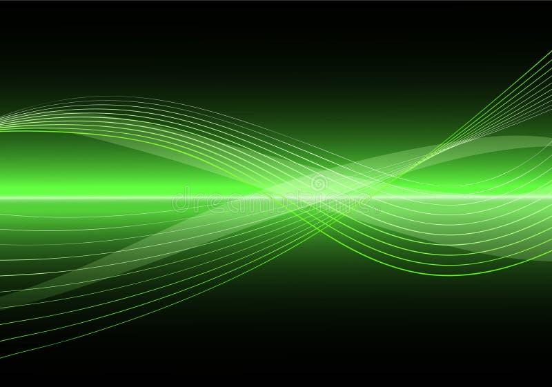 Abstrakter sauberer vektorwellen-Hintergrund lizenzfreie abbildung