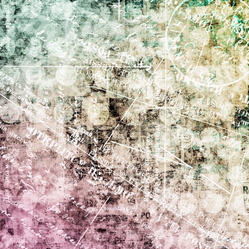 Abstrakter schöner Hintergrund im Stil der gemischten Medien lizenzfreie abbildung