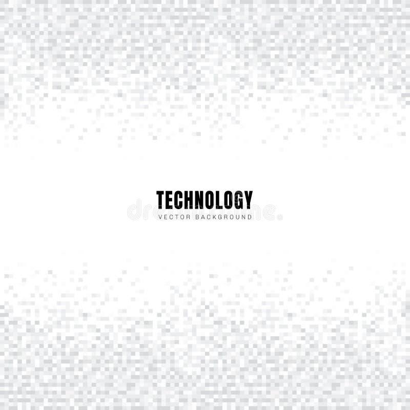 Abstrakter Schablonentitel und Quadratmusterhintergrund und -beschaffenheit der Seitenenden geometrisches weißes und Graues mit K lizenzfreie abbildung