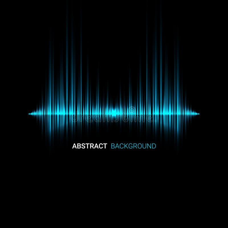Abstrakter Schallwellehintergrund Blauer heller Hintergrund lizenzfreie abbildung