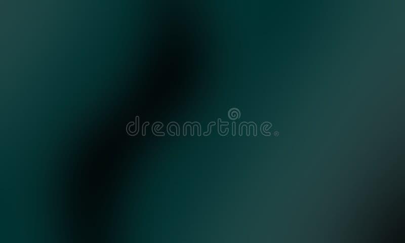 Abstrakter schattierter Hintergrund der grünen und schwarzen Unschärfe, Vektorillustration lizenzfreie abbildung