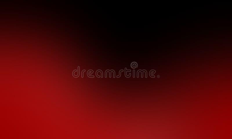 Abstrakter schattierter Hintergrund der roten und schwarzen Unsch?rfe, Vektorillustration lizenzfreie abbildung