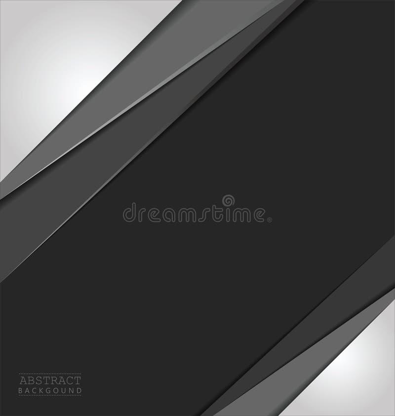 Abstrakter Schichtvektorhintergrund mit Raum für Text und Design lizenzfreie abbildung