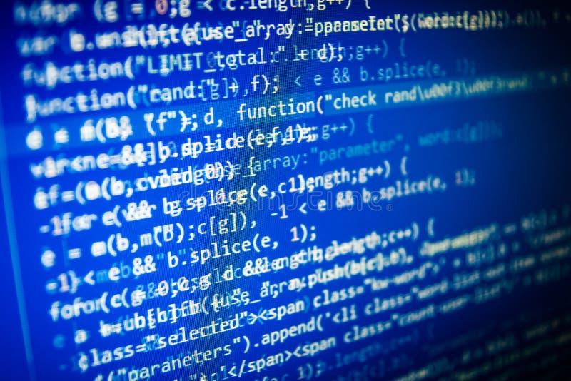 Abstrakter Schirm des Programmiercodes des Softwareentwicklers vektor abbildung