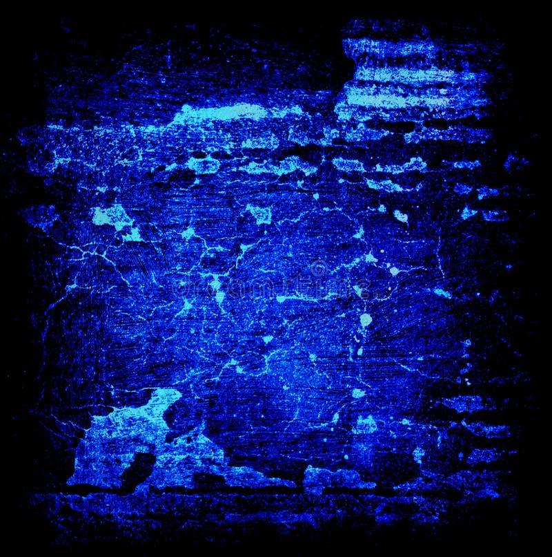 Abstrakter Schmutz-schwarzer und blauer Glühen-Hintergrund stockfotografie