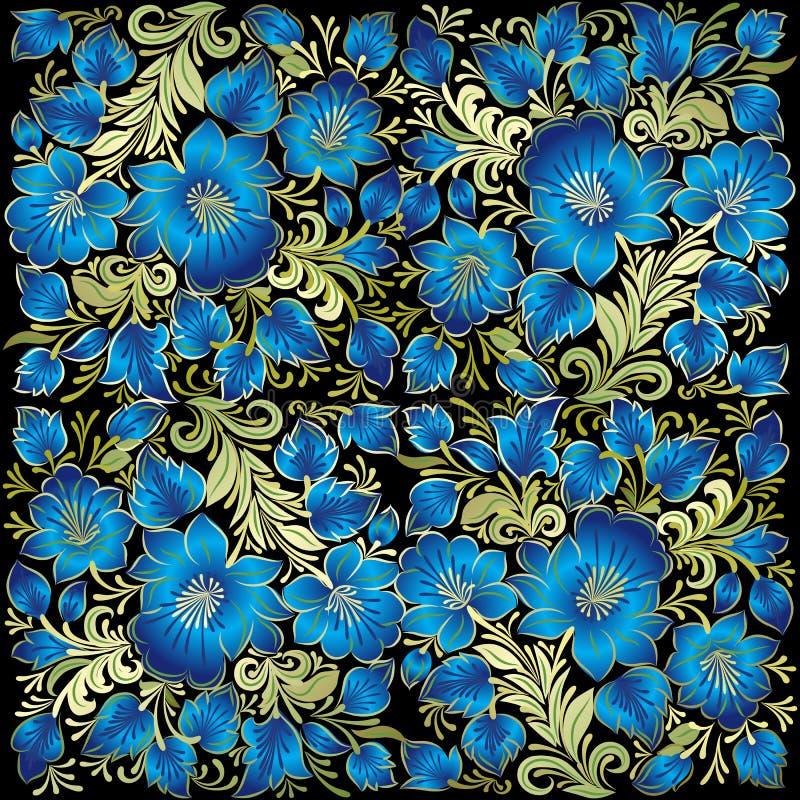 Abstrakter Schmutzhintergrund mit Blumenverzierung lizenzfreie abbildung