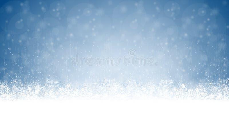 abstrakter Schnee blättert Hintergrund ab stock abbildung