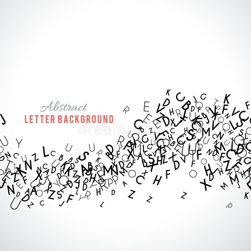 Abstrakter schwarzer Alphabetornamentrahmen lokalisiert auf weißem Hintergrund lizenzfreie abbildung