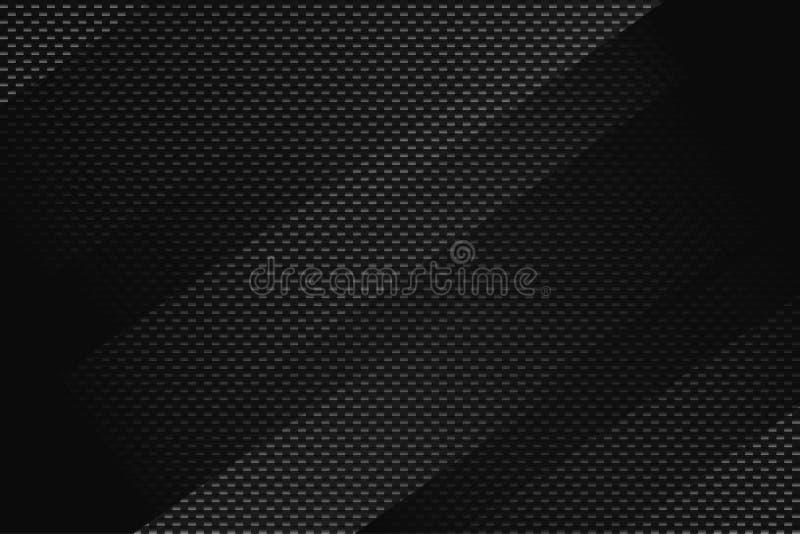 Abstrakter schwarzer geometrischer Hintergrund E stock abbildung