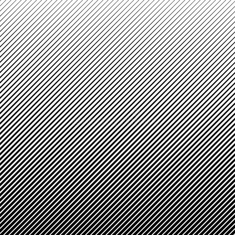 Abstrakter schwarzer Halbtonhintergrund des Vektors Retro- Linie Musterdesign der Steigung lizenzfreie abbildung