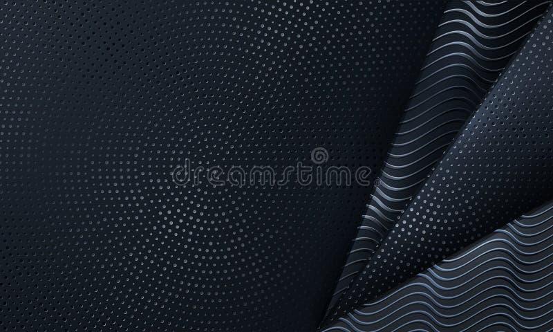 Abstrakter schwarzer Hintergrund gemasert mit einer Kombination von glänzenden Punkten Hintergrund des Vektor Eps10 vektor abbildung