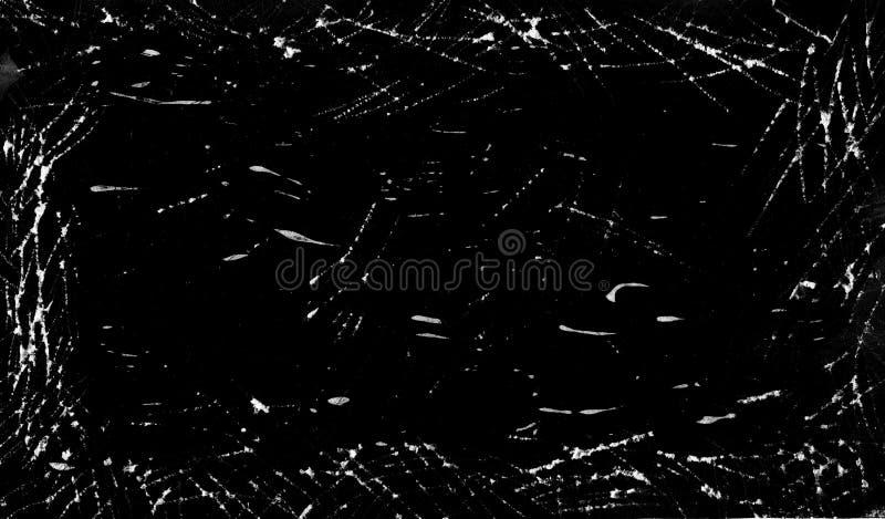 Abstrakter schwarzer Hintergrund mit Kratzern lizenzfreie abbildung