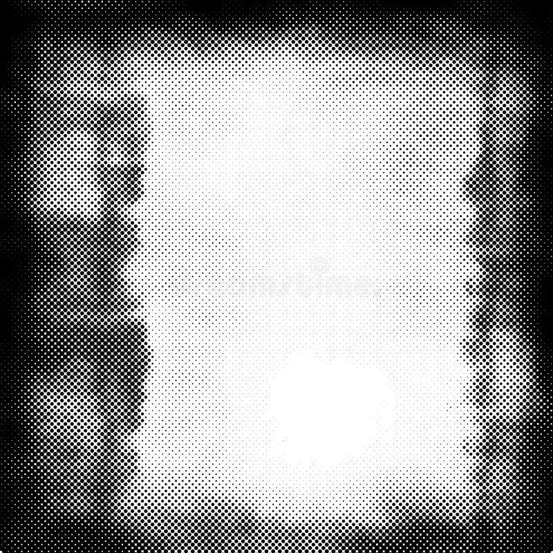 Abstrakter schwarzer Hintergrund mit Punkten vektor abbildung