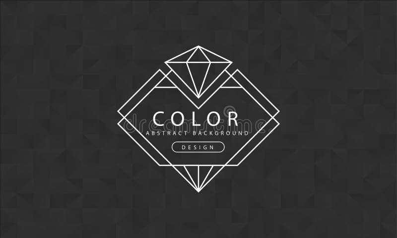 Abstrakter schwarzer Hintergrund, schwarze Beschaffenheiten, Fahnenschwarztapete, Polygonschwarzfarbe, Vektorillustration lizenzfreie abbildung