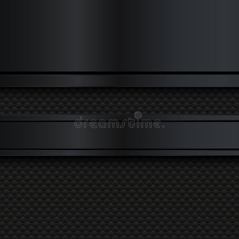 Abstrakter schwarzer Metallhintergrund Auch im corel abgehobenen Betrag vektor abbildung