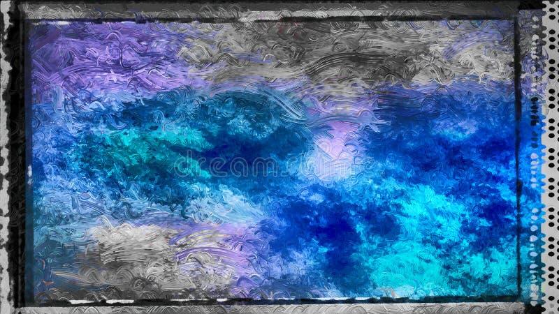 Abstrakter schwarzer und blauer Glaseffekt-Farben-Hintergrund stock abbildung