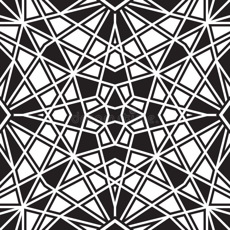 Schwarzweiss-Muster stock abbildung