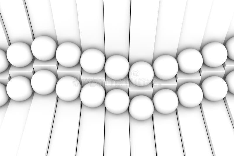 Abstrakter Schwarzweiss-Hintergrund mit Würfel und Bereich stock abbildung