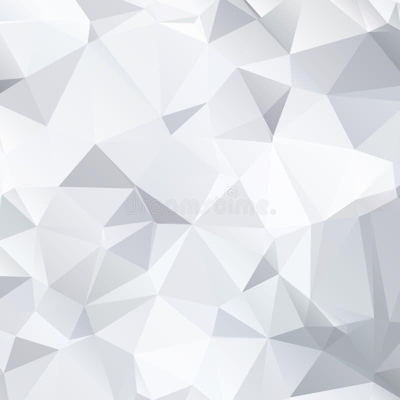 Abstrakter Schwarzweiss-Hintergrund von polygonalem vektor abbildung