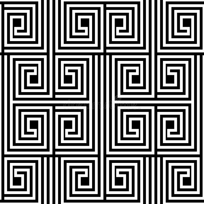Abstrakter Schwarzweiss-Zickzack-Vektor-nahtloses Muster vektor abbildung