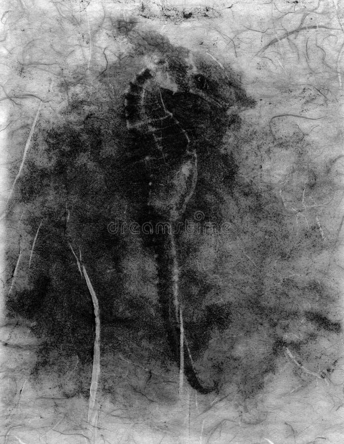 Abstrakter Seahorse lizenzfreie abbildung
