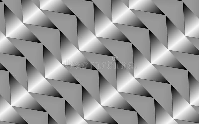 Abstrakter silberner Dreieckhintergrund für kreative Designe lizenzfreie abbildung
