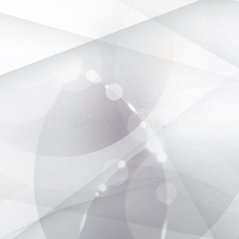 Abstrakter silberner Hintergrund mit weißem und grauem geometrischem, Linien, lizenzfreie abbildung