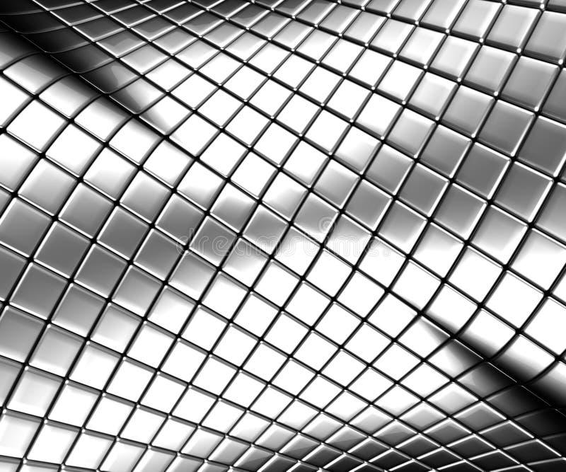 Abstrakter silberner Stahlhintergrund mit Reflexion lizenzfreie abbildung