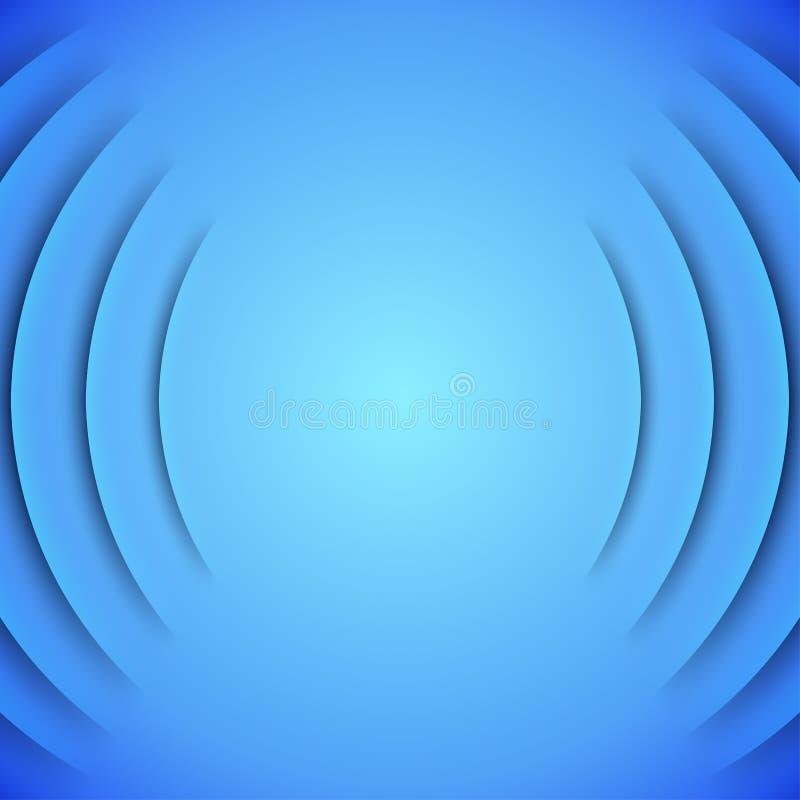 Abstrakter solider themenorientierter Vektorhintergrund mit Blau lizenzfreie abbildung