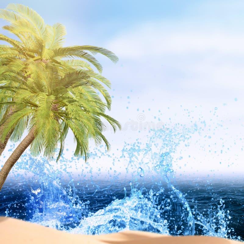Abstrakter Sommerferienhintergrund stockbild