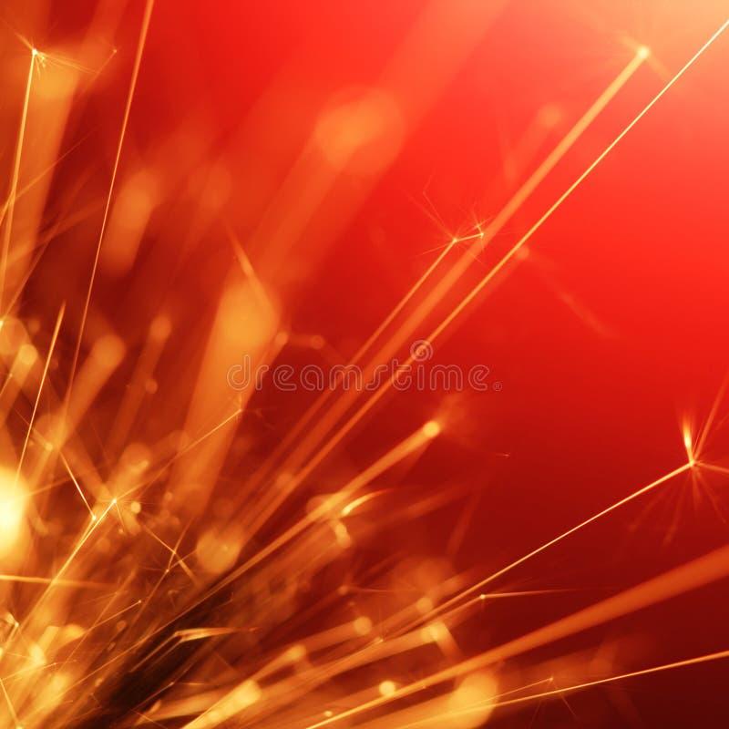 Abstrakter Sparkler lizenzfreie stockfotos