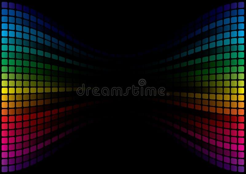 Abstrakter Spektrum-Hintergrund stock abbildung