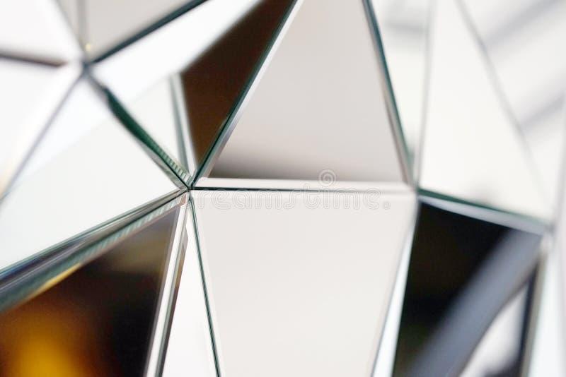 Abstrakter Spiegel Nahaufnahme stockfoto