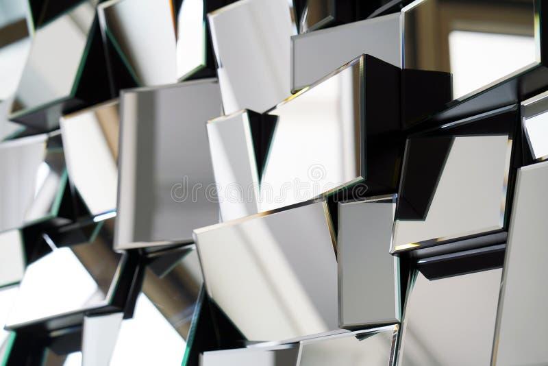 Abstrakter Spiegel Nahaufnahme stockfotografie