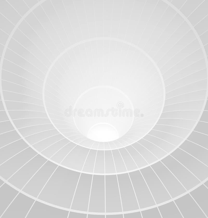 Abstrakter Spiralentunnel des Weiß 3d vektor abbildung