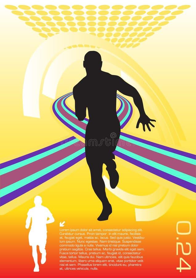 abstrakter Sportvektor lizenzfreie abbildung