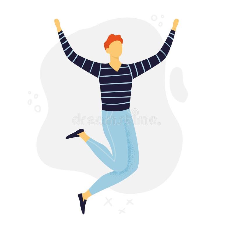 Abstrakter springender oder tanzender Mann r lizenzfreie abbildung