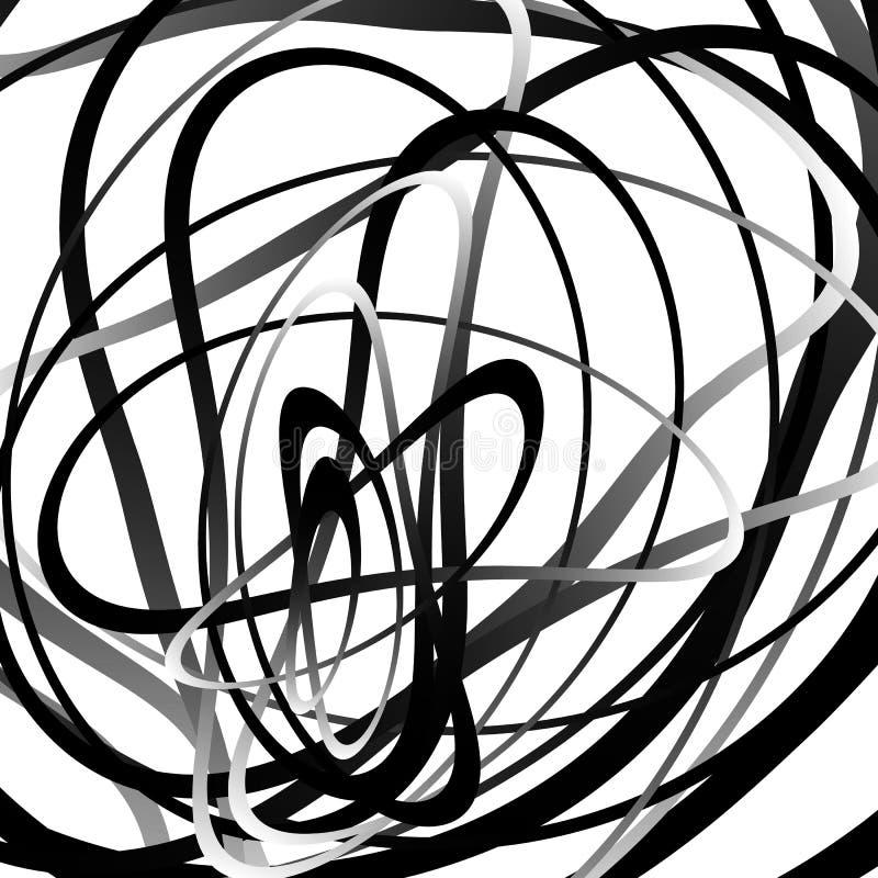 Abstrakter Squiggle, squiggly, curvy Linien Einfarbiges geometrisches p stock abbildung