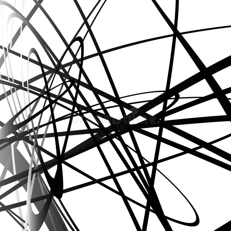 Abstrakter Squiggle, squiggly, curvy Linien Einfarbiges geometrisches p vektor abbildung