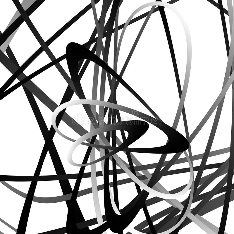 Abstrakter Squiggle, squiggly, curvy Linien Einfarbiges geometrisches p lizenzfreie abbildung