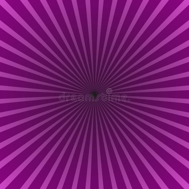 Abstrakter starburst Hintergrund - Steigungsvektordesign mit gestreiften radialstrahlen vektor abbildung