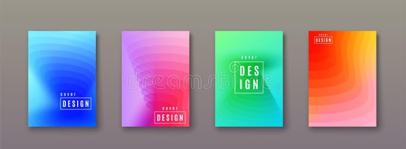 Abstrakter Steigungshintergrund mit geometrischen Farbformen Minimales kühles Abdeckungsdesign lizenzfreie abbildung