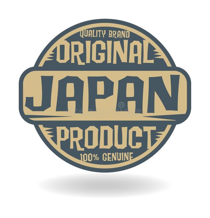 Abstrakter Stempel mit Text ursprünglichem Produkt von Japan lizenzfreie abbildung