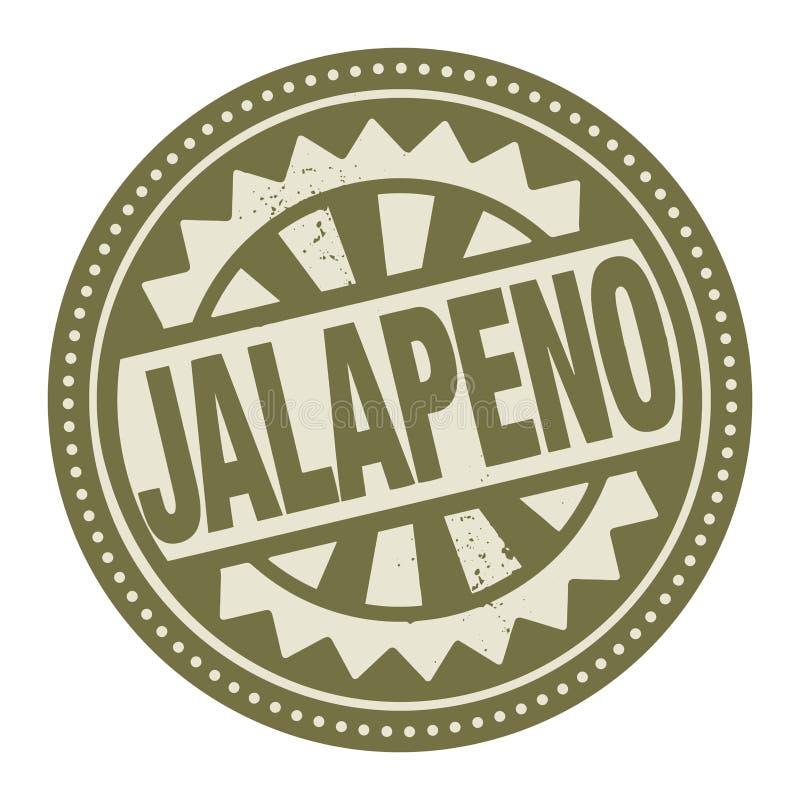 Abstrakter Stempel oder Aufkleber mit dem Text Jalapeno nach innen geschrieben vektor abbildung