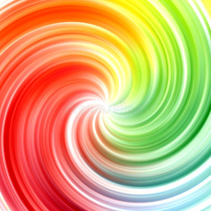 Abstrakter Strudelregenbogen färbt Hintergrund lizenzfreie abbildung