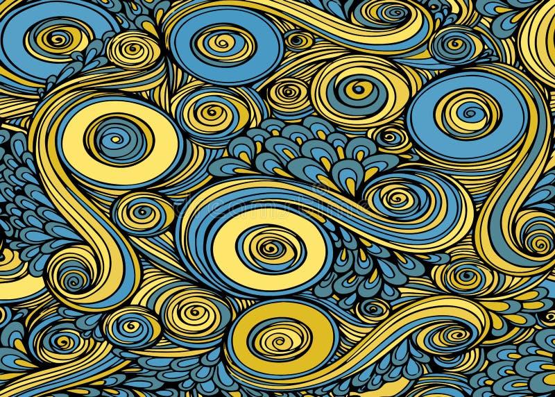 Abstrakter surrealistischer bunter Hintergrund Vektor vektor abbildung