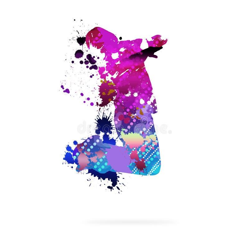 Abstrakter Tänzer lizenzfreie abbildung