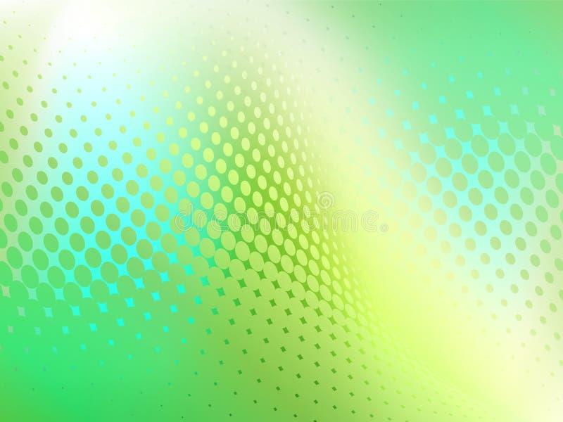 Abstrakter Teal Blue Dot Swirl Background lizenzfreie abbildung