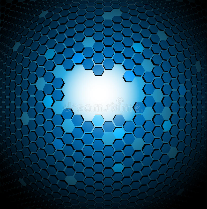 abstrakter technischer Hintergrund 3D vektor abbildung